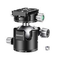 Neewer 44mm Low-Profile Ball Head Panoramic Camera Tripod Head for Tripods