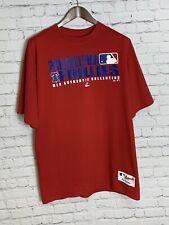 Philadelphia Phillies Authentic Majestic Mens T Shirt Red Size Large