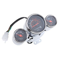 Moped Speedometer Light Gas Battery Level Gauge 12V 0-80 mph for Motorcycle