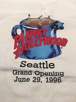 10082d376fb Planet Hollywood Seattle Grand Opening Graphic T Shirt Coffee Cup Dated  Adult XL