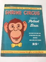 Polack Bros Shrine Circus Season of 1957 Official Program & Magazine Erie Pa.