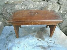 ANTIQUE,STAINED PINE FOOTSTOOL