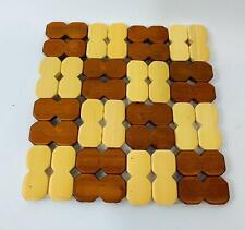 4x Topfuntersetzer Bambus Holz Tischuntersetzer Heizbeständig Untersetzer Speise