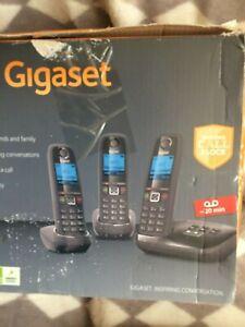 Gigaset AL415A Cordless Phone With Answering Machine Speakerphone Black