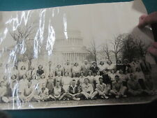 """1955 Cleveland High School CLASS PICTURE at White House field trip 19 1/2"""" x 12"""""""