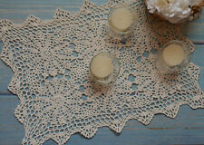 2 Pack Crochet Lace Rustic Winter Christmas Snowflake Wedding Table Placemats
