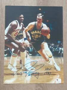 RICK BARRY WARRIORS HOF NBA BASKETBALL SIGNED AUTOGRAPHED 8X10 PHOTO W COA