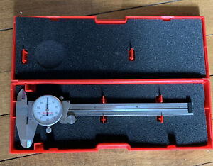 "Starrett 120 Dial Caliper 6"" w/ Case .001"" Machinist Tool USA"