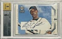 BJ UPTON ROOKIE 2002 UPPER DECK AUTOGRAPH CARD #96 BGS MINT 9 TAMPA BAY RAYS RC