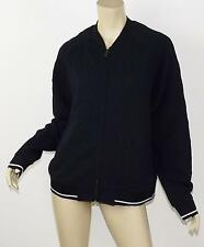 BANANA REPUBLIC Navy Cableknit Texture Relaxed Fit Zip Front Sweatshirt Jacket L