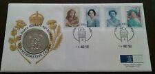 THE  COMMEMORATIVE  UNITED KINGDOM/NORTH IRELAND FDC £5 1990 COIN # 2
