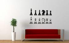 Wall Art Vinyl Room Sticker Decal Mural Chess Game Smart Board Horse  bo1760