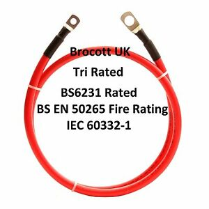 WELDING CABLE LEAD, BATTERY LEAD 100AMP (16mm2) TRIRATED CABLE 150mm To 8mtr