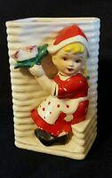 Vintage Christmas Holiday Ceramic Vase Planter Empress brand Made in Japan