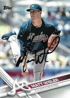 Matt Wisler Signed Autographed 2017 Topps Atlanta Braves Card - MLB - COA