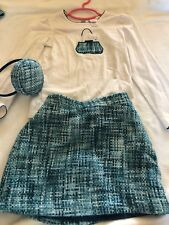 Euc Janie & Jack Girls Sweet Sophistication Boulce Tweed Skirt Pill Box Hat Sz 5