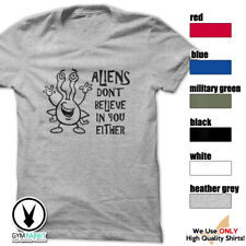Aliens Don'T Believe In You Either Gym Rabbit Funny Design Cotton T-Shirt E156
