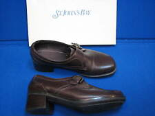 9 M B St John's Bay Ladies Shoes Brown Mel Dark Leather Loafers Buckle In Box 9M