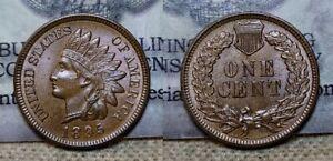1895 Indian Head Cent 1c Choice BU