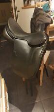 """English leather dressage saddle, MW, Black, 17.5"""""""