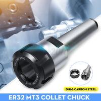 ER32 M12 MT3 Mandrino Portapinze Tornio Fresa Supporto Conico Acciaio per CNC