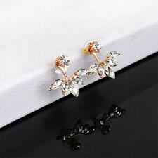 1Pair Women Fashion Jewelry Lady Crystal Rhinestone Ear Stud Earrings,Rose Gold