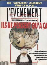 L'evenement Du Jeudi   N°316   22 au 28 novembre 1990 : Les integristes et la se
