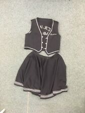 Vintage dance club vest Skirt Black & Silver trim Thief River Falls polka square