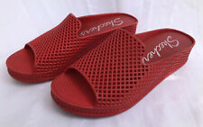 Skechers Glitz Infared Womans Red Plastic Slip-On Sandals Size 7