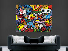 ABSTRACT ART WALL PICTURE POSTER GIANT HUGE