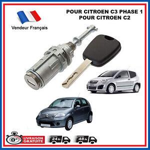 Citroen C2 C3 Cilindro Serratura Porta Anteriore Sinistro + 1 Chiave