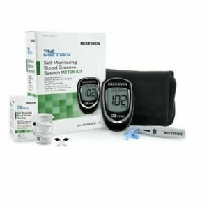 True Metrix Self Monitor Glucose Meter+Lance+10 Lancets+10 Test Strips+Case!
