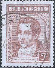 "Argentina Stamp - Scott #427/A134 5c Yellow Brown ""Moreno"" Canc/LH 1935"