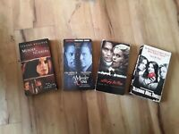 4 Horror VHS Murder by Numbers, Murder of Crows, Mrs Tingle, Sleepy Hollow #4
