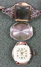 Vintage Gotham Watch 17J 10K Rolled Gold Plate Top Swiss Speidel Band Works#2547