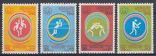 Irak Iraq 1976 ** Mi.871/74 Olympische Spiele Olympic Games Volleyball Basketbal
