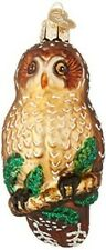 Old World Christmas 16052 Glass Blown Spotted Owl Ornament