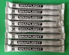 Lot of 8 White Cyalume Lightsticks Hi-Intensity Emergency Prepper Blackout 07/21