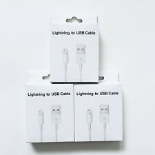 Lot Of 3 Usb Charger Data Cable For Iphone Ipad Ipod 3 Ft Factory Direct