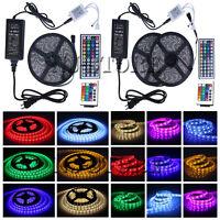 5M 10M 3528 5050 RGB SMD Flexible LED Strip Light 44 Key IR Remote Power Supply
