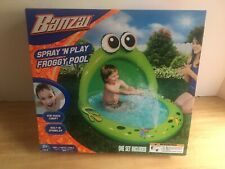 Banzai Spray 'N Play Froggy Pool NEW