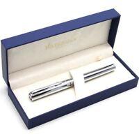 Waterman Allure Graduate Fountain Pen - Shiny Chrome CT - Medium Nib