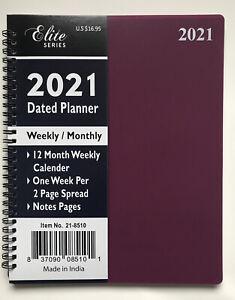 2021 Weekly/Monthly Planner Organizer Agenda Appointment Calendar Spiral 8x10