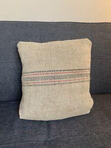 Antique Jute Grain Sack Cushion Cover 37cms X 37cms Handmade