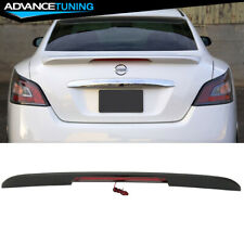Fit 09-15 Nissan Maxima A35 Oe Factory Abs Trunk Spoiler & 3Rd Led Brake Light