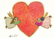 Kunstkarte / Postcard Art - Selda Soganci: Herz-liche Grüße