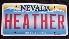 "NEVADA Vanity License Plate "" HEATHER "" HEATH HAS 2 MOMMY MOMMYS"