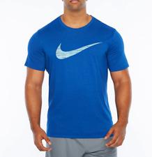 Mens Nike Swoosh Short Sleeve Tee T-Shirt Big & Tall Blue 839893432 Athletic Cut