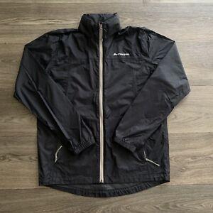 Macpac Pack-It Black Rain Packable Jacket Unisex Size XS