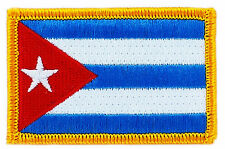 FLAG PATCH PATCHES CUBA CUBAN IRON ON COUNTRY EMBROIDERED WORLD FLAG